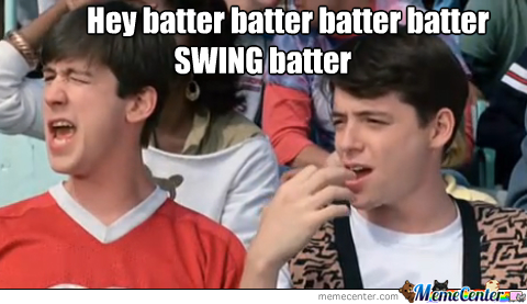 Image result for swing batter batter swing meme