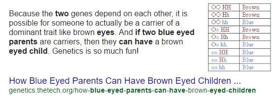 Unless His Disease Also Mutated His Genes For Eye Color