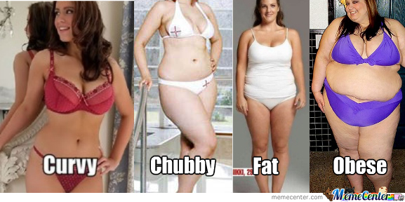 The difference between chubby and fat
